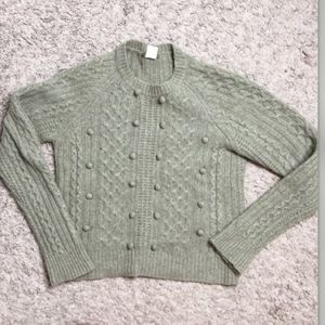 J crew lambs wool cable knit sweater